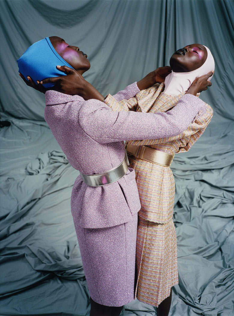 Photo Adut Akech & Nyaueth Riam by Harley Weir for i D Summer 2017