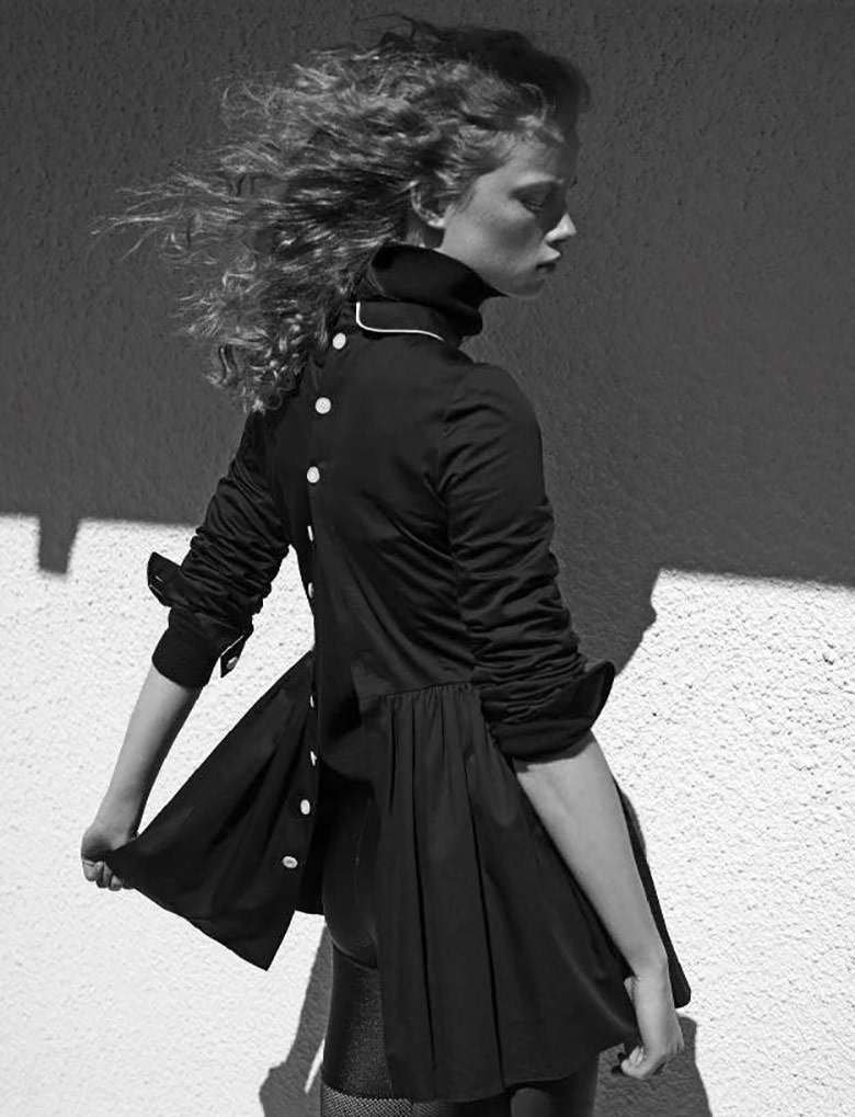 Photo Rianne van Rompaey by Karim Sadli for Vogue Italia May 2017