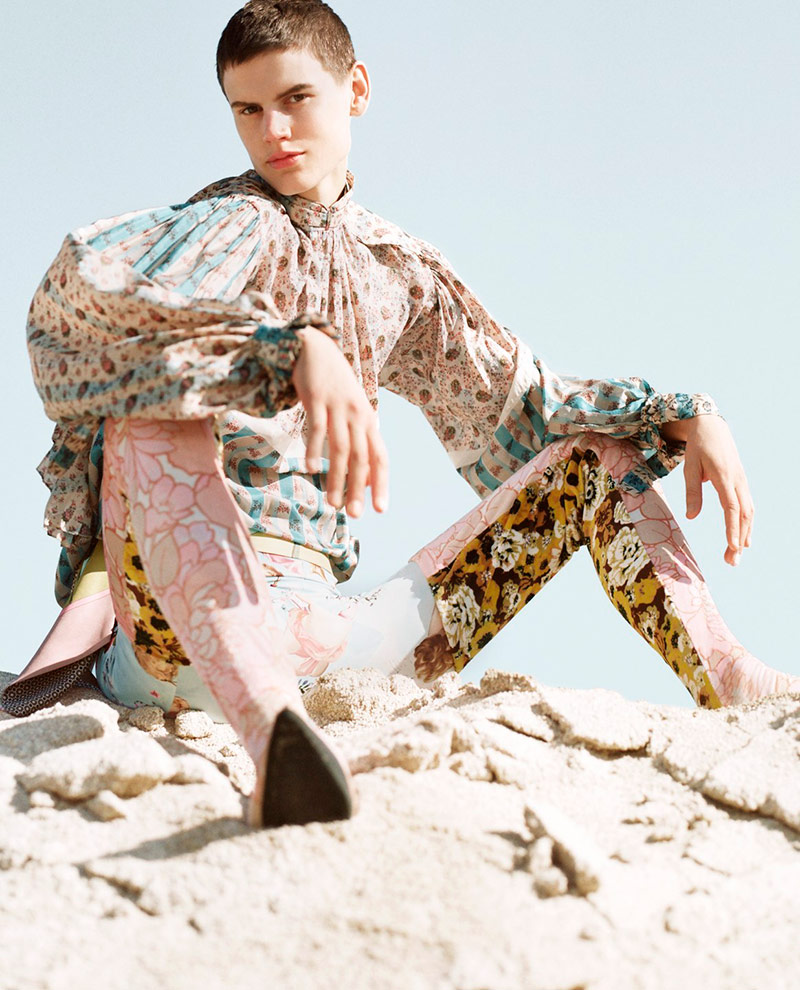 Photo Saskia de Brauw by Dario Catellani for Vogue Italia May 2018
