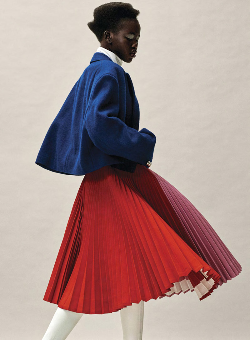 Photo Adut Akech for Vogue US