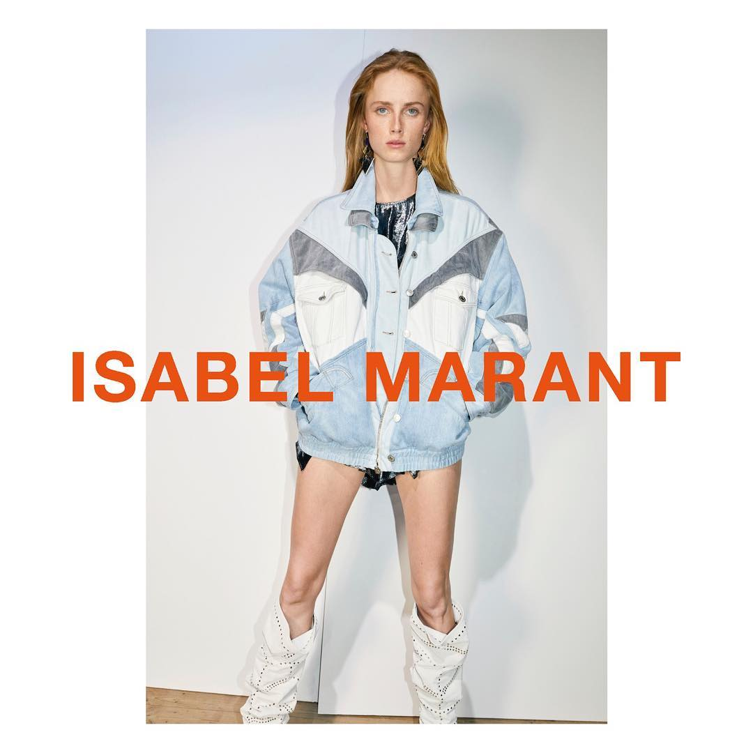 Photo Binx Walton, Anna Ewers & Rianne van Rompaey for Isabel Marant S/S 2019