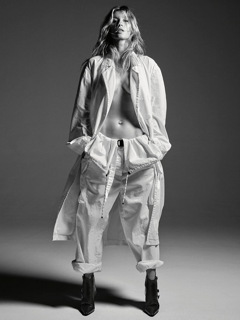 Photo Gisele Bundchen by Mario Sorrenti for Porter Magazine