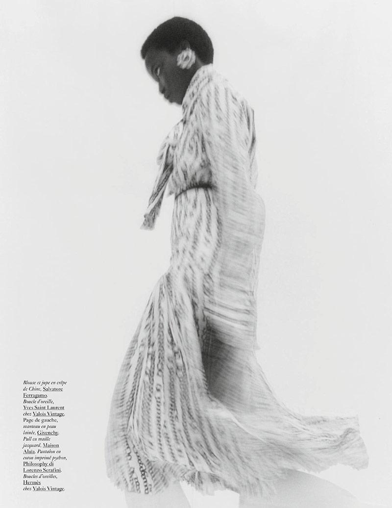 Photo Anok Yai for Vogue Paris May 2019