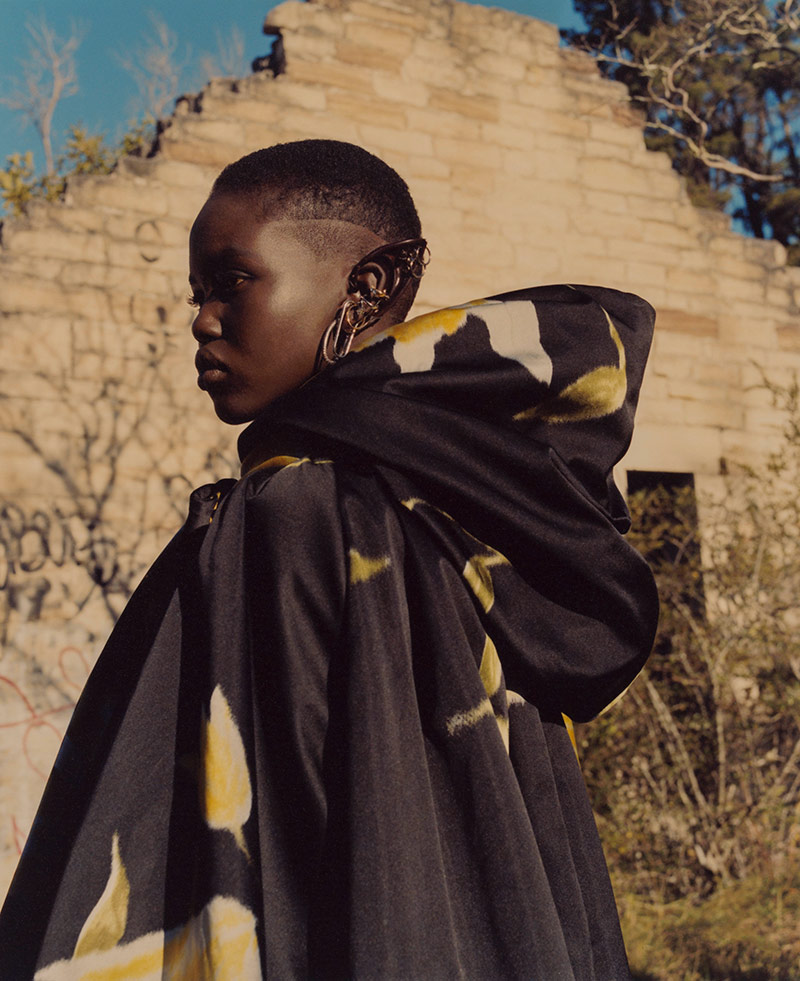 Photo Adut Akech by Andrew Nuding for Vogue Australia