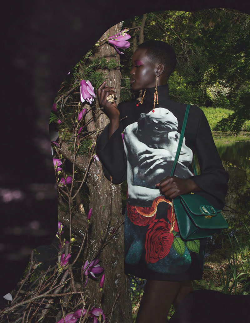 Photo Adut & Rianne by Inez & Vinoodh for Valentino F/W 2019 2020