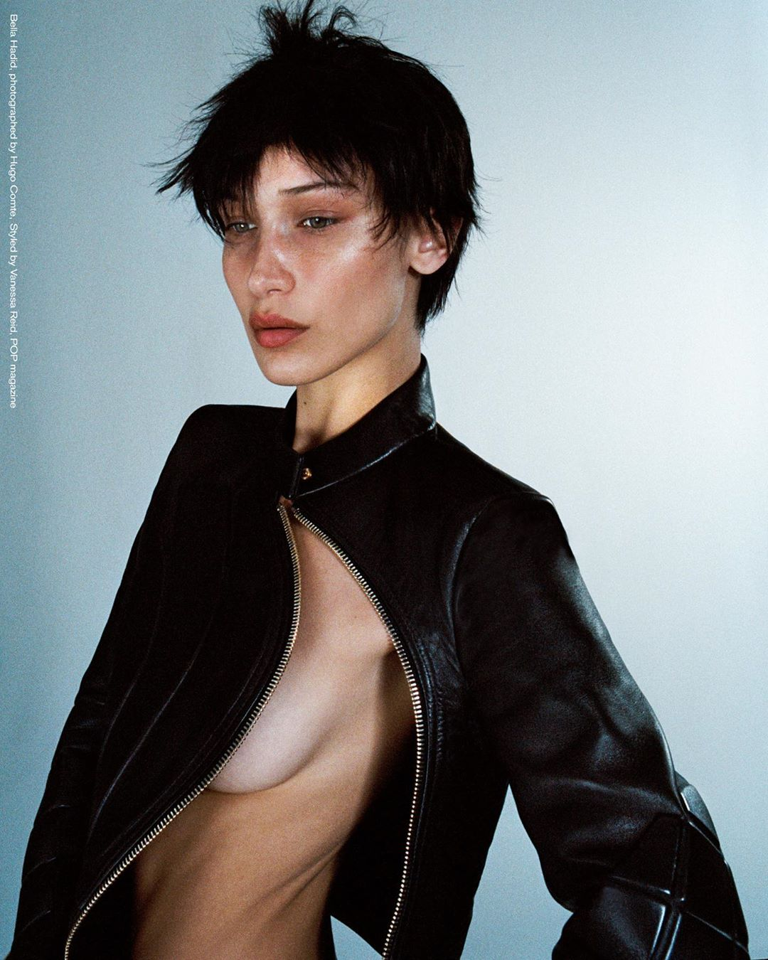 Photo Bella Hadid by Hugo Comte for POP Magazine