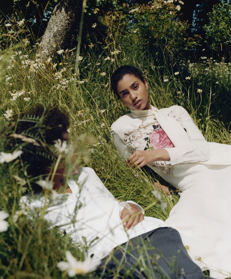 Photo Imaan Hammam & Vittoria Ceretti by Tyler Mitchell for Vogue US