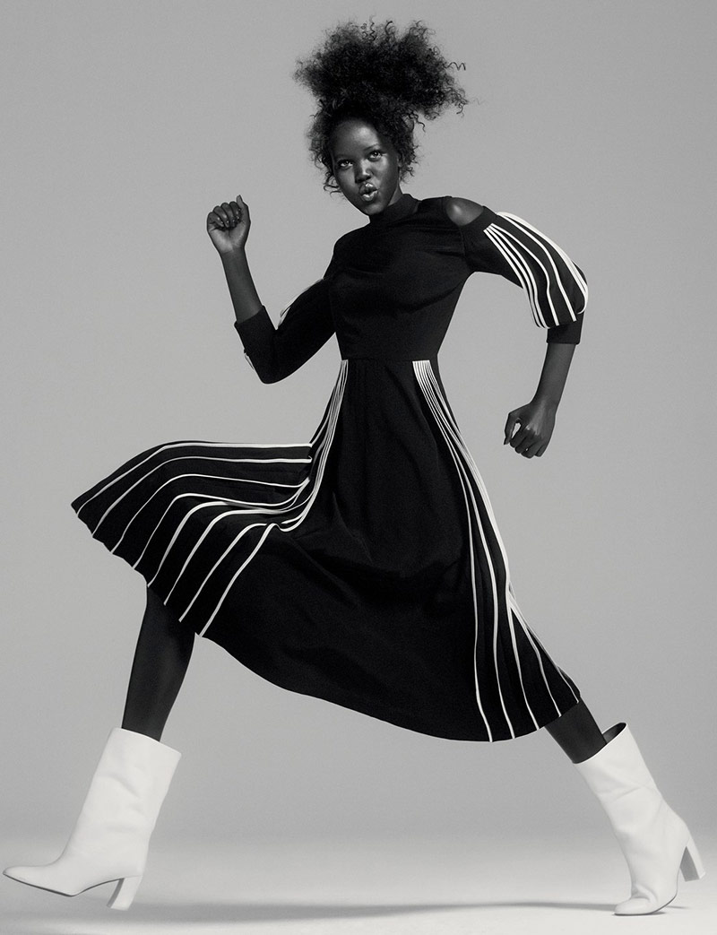 Photo Adut Akech for Vogue UK September 2019