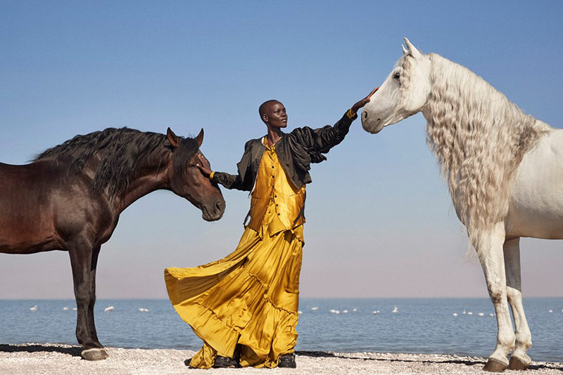 Photo Grace Bol️️️️ by Richard Phibbs for Vogue Greece