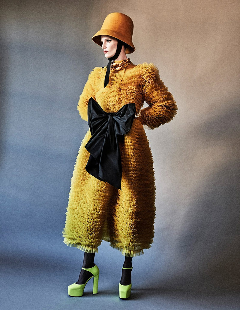 Photo Iris Strubegger by Giampaolo Sgura for Vogue Germany December 2019