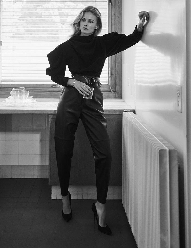 Photo Edita Vilkeviciute by Chris Colls for Vogue Paris