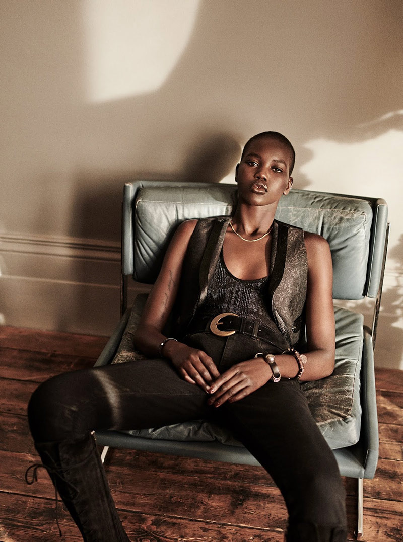 Photo Adut Akech for The Sunday Times Style