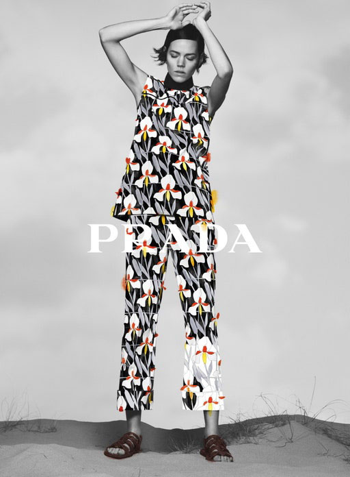 Photo Freja Beha Erichsen for Prada