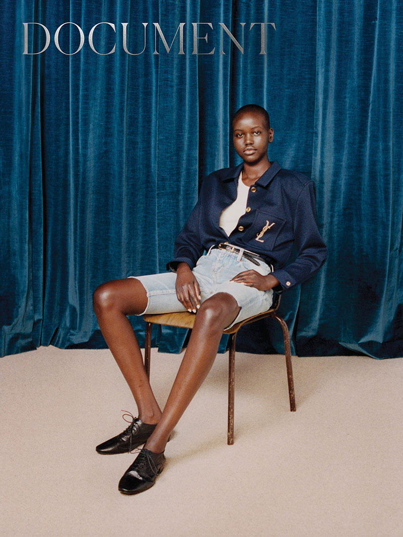 Photo Adut Akech by for Document Journal S/S 2020
