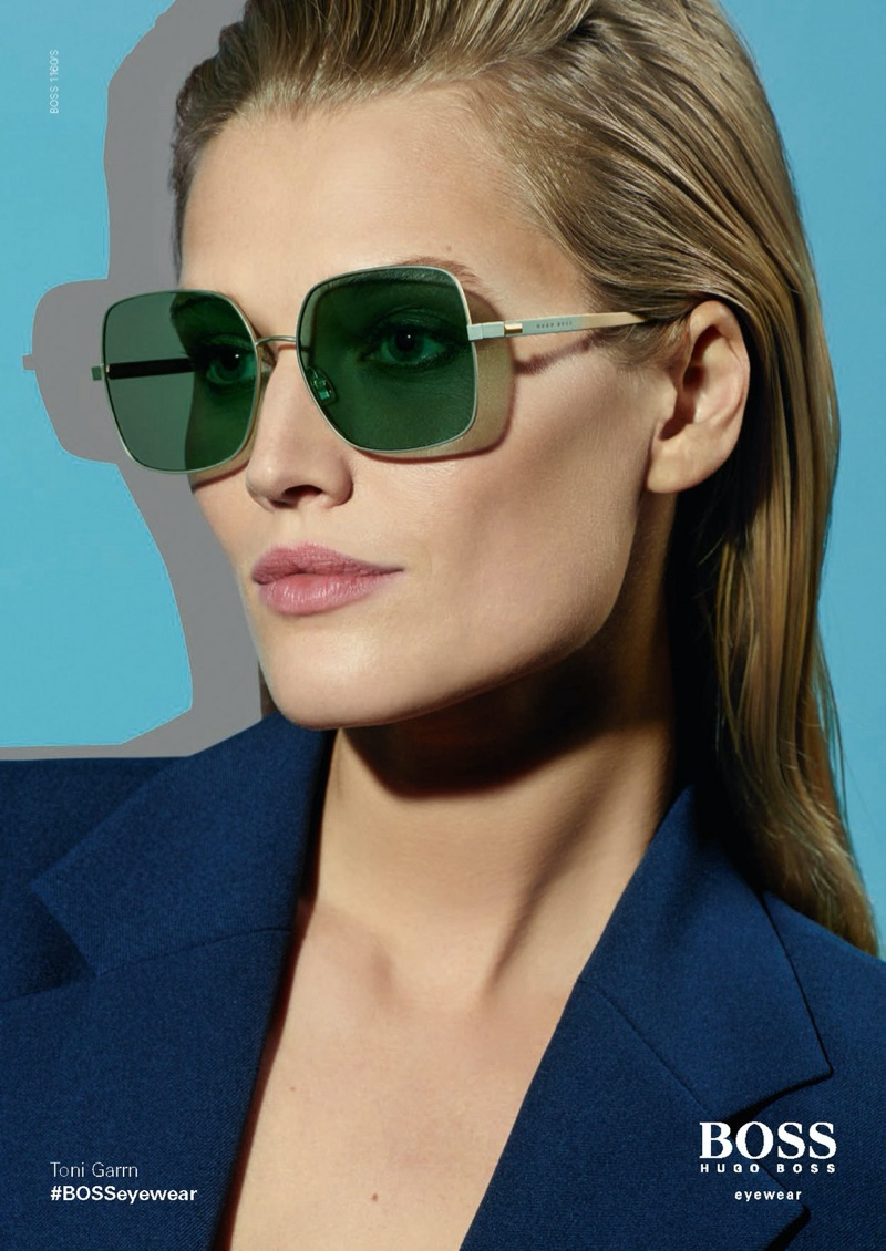 Photo Toni Garrn for BOSS Eyewear's Spring/Summer 2020