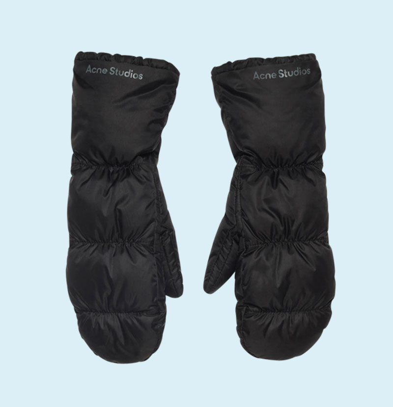 acne-quilted-mittens-black