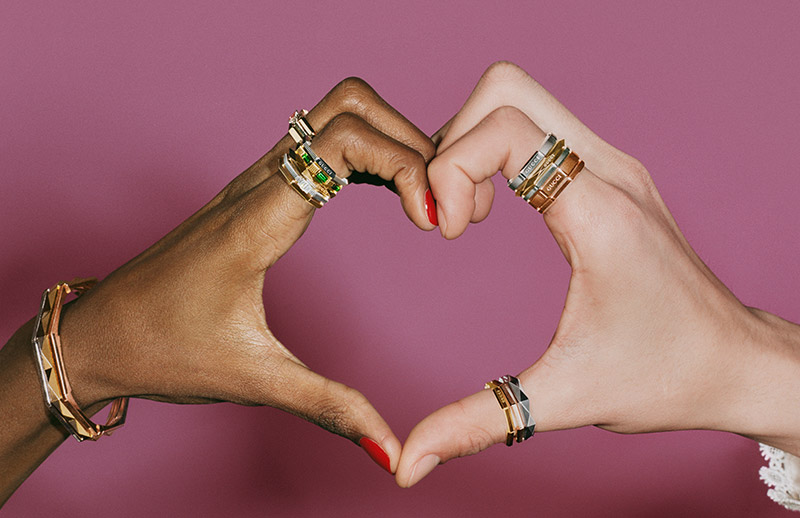 Gucci 'Link to Love' rings