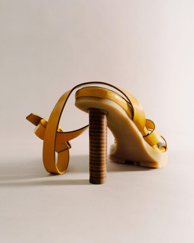 Tamara Mellon X Irina Shayk Sun Valley Sandals Yellow