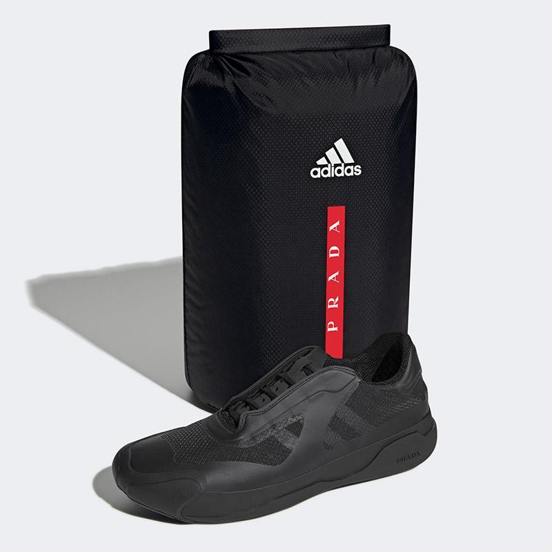 Prada x Adidas: A+P LUNA ROSSA 21 Sneakers and backpack Black