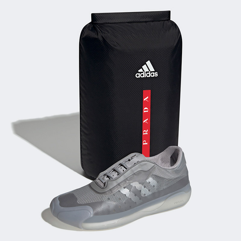 Prada x Adidas: A+P LUNA ROSSA 21 Sneakers and backpack Grey