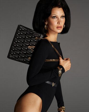 Bella Hadid in Versace Virtus Handbag Campaign